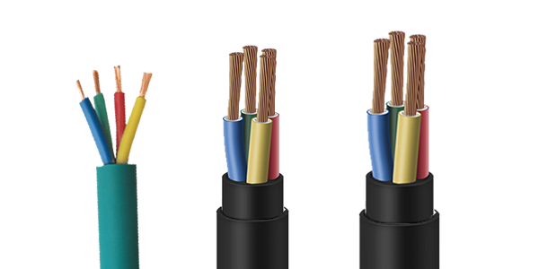 PVC 4 Core Submersible Round Cable
